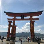 厳島神社の鳥居と神様、神の住む島「宮島」に行きました。